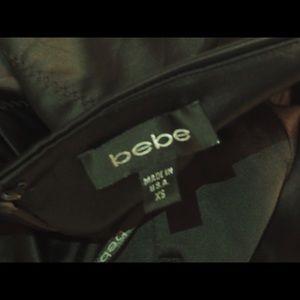 bebe Dresses - Bebe Black Satin Bodycon Dress